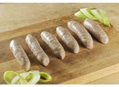 Gluten Free Pork & Leek sausage
